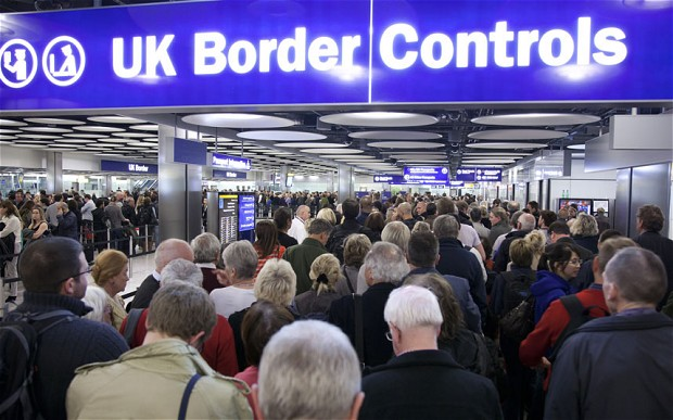 Immigration has overtaken the NHS as the most commonly mentioned worry of the British voter, according to an Ipsos Mori poll. (Photo: REX, via The Telegraph)