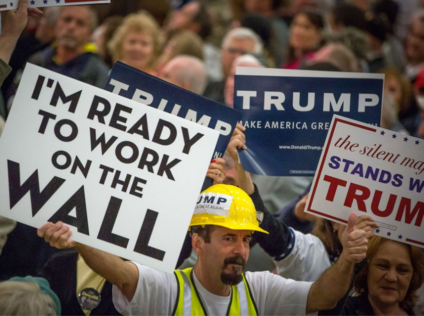 Is this attitude toward immigration motivated by exposure to automation/outsourcing? (ARON P. BERNSTEIN/ GETTY IMAGES)