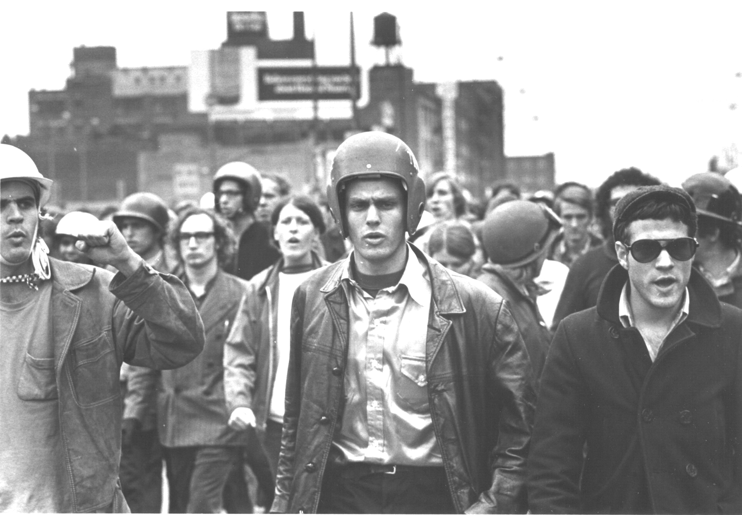 John Jacobs (l) and Terry Robbins (r) at the Days of Rage, Chicago, October 1969. Their group, the Weathermen, were a conspicuous domestic terrorism problem in the early 1970s. (Photo: David Fenton, ITV)