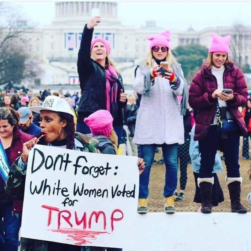 Obligatory viral photo from the Women's March.